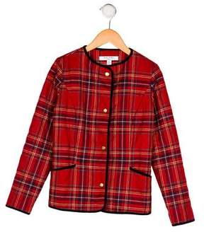 Brooks Brothers Girls' Plaid Quilted Jacket