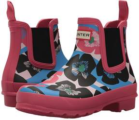 Hunter Floral Stripe Chelsea Boot Women's Rain Boots