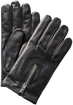 Portolano Men's Black Cashmere-Lined Nappa Gloves