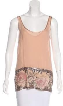 DKNY Embellished Silk Top