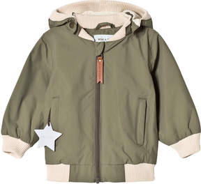 Mini A Ture Deep Green Rib Detail Hooded Jacket