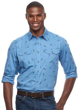 Croft & Barrow Men's Classic-Fit Roll-Tab Button-Down Shirt