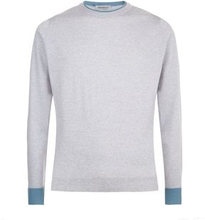 John Smedley Tipped Collar Knit Sweater
