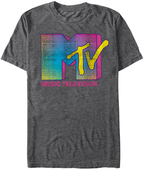Fifth Sun Heather Charcoal MTV Fluorescent Logo Tee - Men