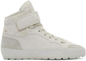 Isabel Marant Grey Suede Bessy Hip Hop Sneakers