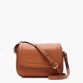 Signet flap bag in Italian leather