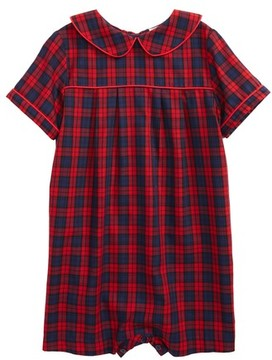 Luli & Me Infant Plaid Romper