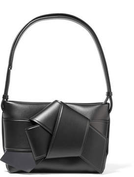 Acne Studios Musubi Knotted Leather Shoulder Bag - Black