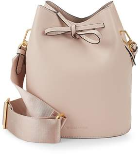KENDALL + KYLIE Women's Mini Leather Drawstring Bucket Bag