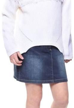 Dex Girl's Dark Denim Mini Skirt