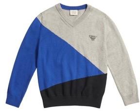 Armani Junior Boy's Colorblock Sweater