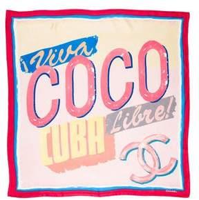 Chanel 2017 Coco Cuba Silk Scarf