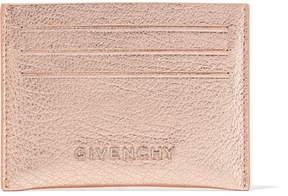 Givenchy Pandora Metallic Textured-leather Cardholder - Pink