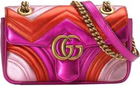 Gucci Mini Marmont 2.0 Metallic Leather Shoulder Bag