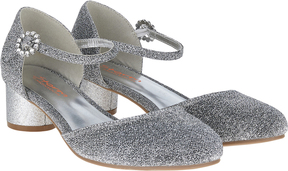 Monsoon Storm Diamante Buckle Jazz Heels