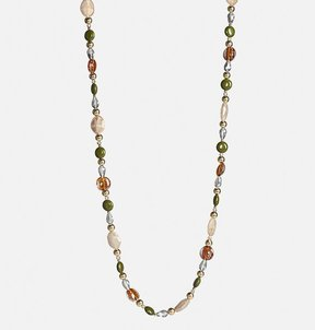 Avenue Neutral Mixed Bead Rope Necklace