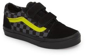 Vans Boy's Reflective Checkerboard Old Skool V Sneaker
