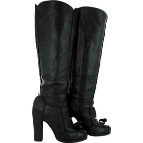 Rochas Black Leather Boots