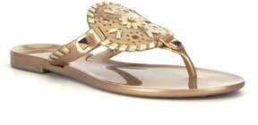 Jack Rogers Girls Miss Georgica Studded Whipstitched Jelly Sandals