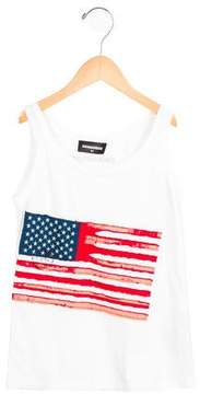 DSQUARED2 Boys' American Flag Sleeveless Shirt w/ Tags