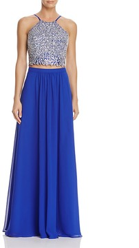 Decode 1.8 Two-Piece Beaded Top Gown