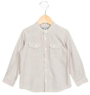 Bonpoint Boys' Pinstripe Button-Up Shirt