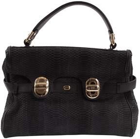 Lancel L'Angele Black Python Handbag