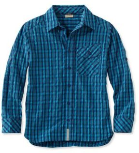 L.L. Bean Boys' Cool Weave Shirt Plaid