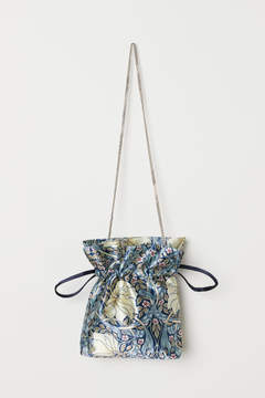 H&M Satin Pouch Bag - Blue