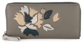 Anne Klein Slim Floral Zip-Around Wallet