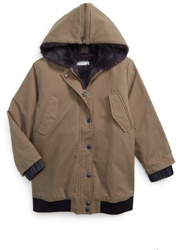 Stella McCartney Girl's Dakota Jacket With Faux Fur Trim