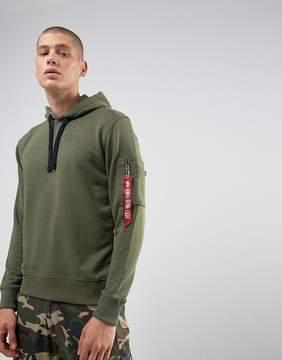 Alpha Industries X-Fit Hoodie Sweatshirt in Olive
