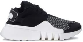 Y-3 Ayero Black And White Mesh And Neoprene Sneaker