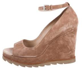 Brunello Cucinelli Suede Wedge Pumps