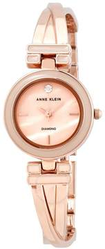 Anne Klein Pink Mother of Pearl Dial Rose Gold-tone Ladies Watch