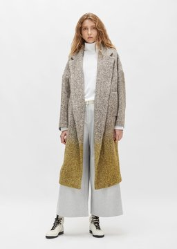 Dusan Dušan Herringbone Oversized Wool Coat Lime Size: Small