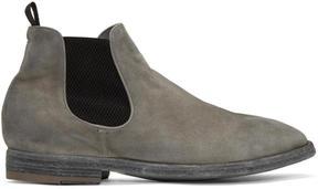 Officine Creative Grey Suede Princeton 47 Chelsea Boots