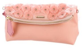 Burberry Petal Embellished Clutch - PINK - STYLE