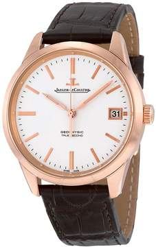Jaeger-LeCoultre Jaeger Lecoultre Geophysic Date Automatic Silver Dial Brown Leather Men's Watch