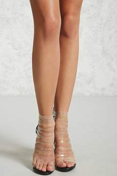 Forever 21 Clear Strap Caged Heels