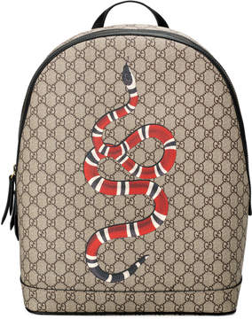 Gucci Kingsnake print GG Supreme backpack