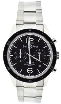 Bell & Ross BR126 Stainless Steel Black Dial Vintage 41mm Mens Watch
