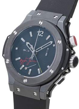 Hublot Big Bang Ayrton Senna Black Dial Ceramic Rubber Men's Watch