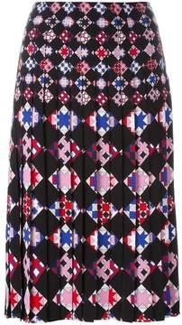 Emilio Pucci geometric print pleated skirt
