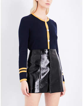 Claudie Pierlot Contrast-trim cotton-blend cardigan