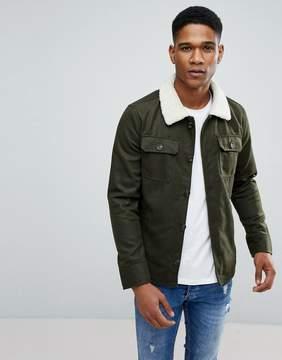 Brave Soul Wool Mix Fleece Collar Shacket