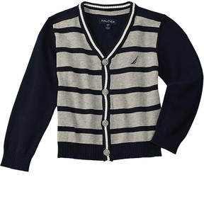 Nautica Boys' Striped Cardigan