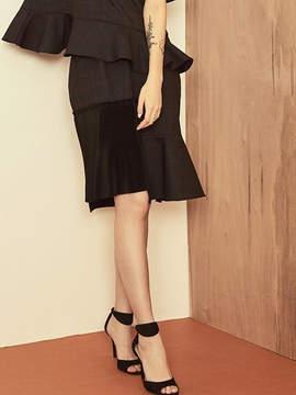 Blank Check Mix Skirt-cc