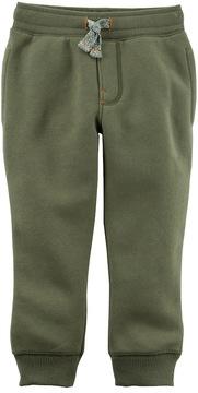 Carter's Toddler Boy Fleece Pull On Green Jogger Pants