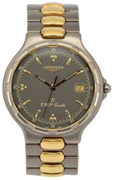 Longines Longiness Conquest L16139 Titanium & Gold Plated Quartz 35mm Mens Watch